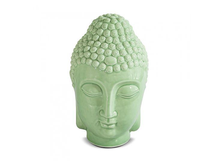 Buda Cabeça De Buda Hindu Indiano Decoração Em Cerâmica 10x17,5cm