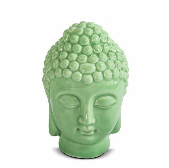 Buda Cabeça De Buda Hindu Indiano Decoração Em Cerâmica 6,5x11cm