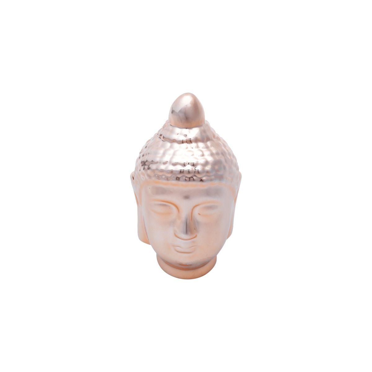 Buda Hindu Namastê Tibetano Sidarta em Cerâmica Cobre