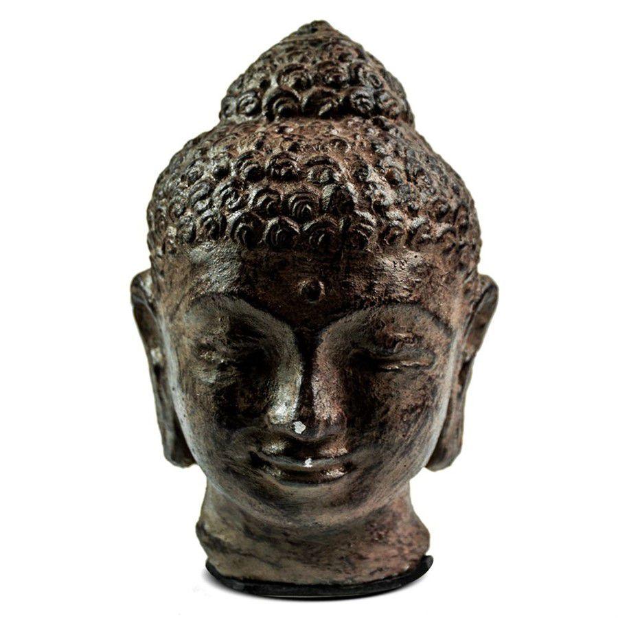 Cabeça de Buda Hindu Namastê Tibetano Sidarta em Cimento