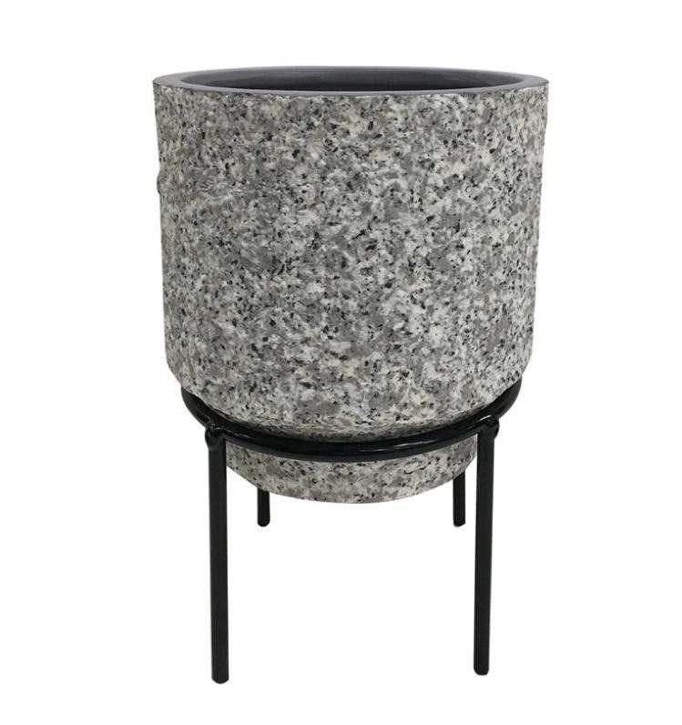Cachepot de Cerâmica com Suporte de Metal Suculentas e Plantas Decor