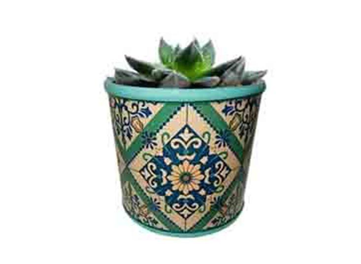 Cachepot de Cerâmica Verde Nelisca Pequeno Urban