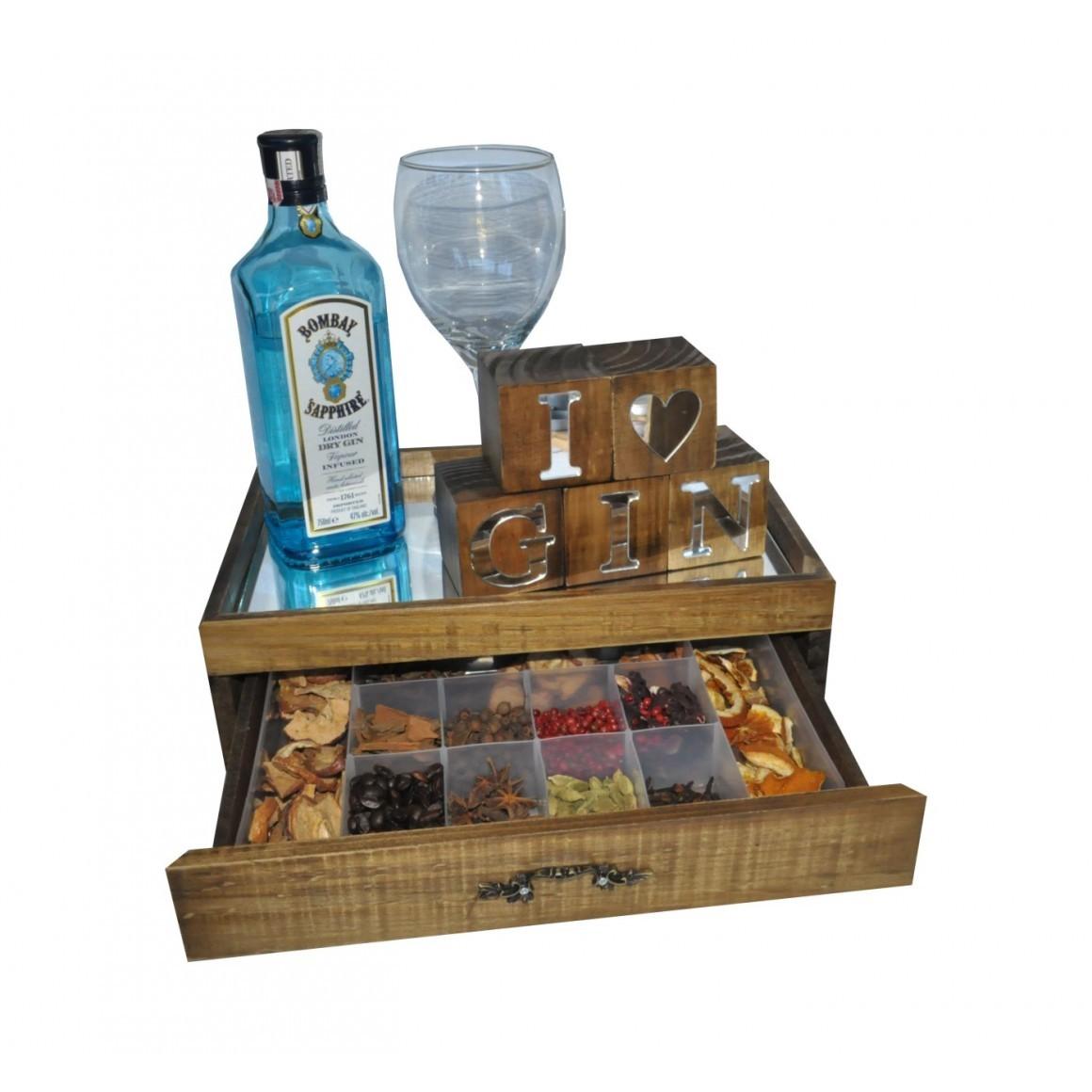 Caixa Para Kit Gin Tônica Especiarias