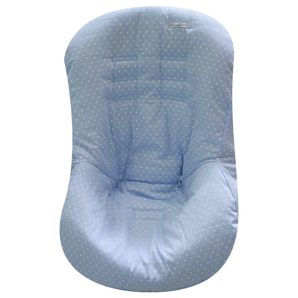Capa de Bebê Conforto em Tecido com Estampa de Estrelinha Azul