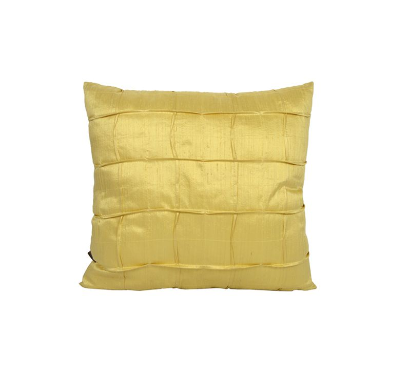 Capa para Almofada Seda New York - Amarela - 50x50cm