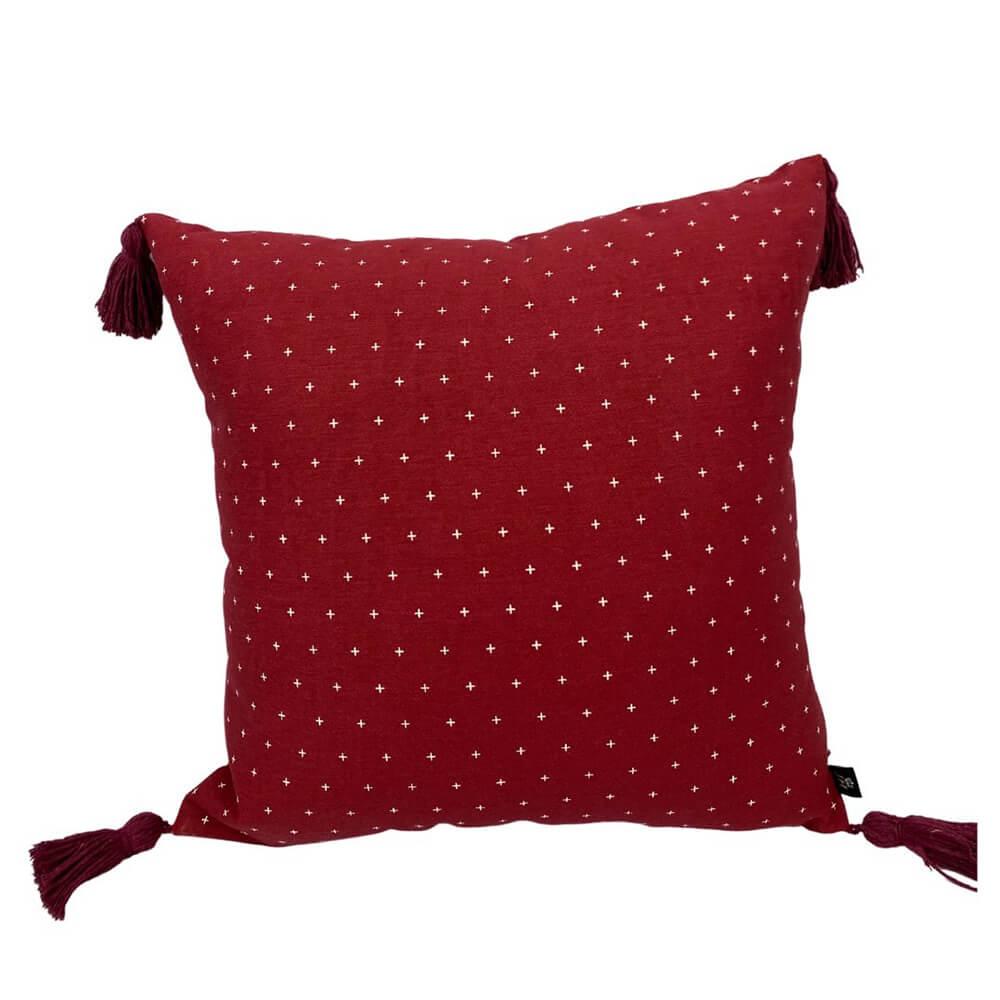 Capa para Almofada Vermelha 45 x 45 cm