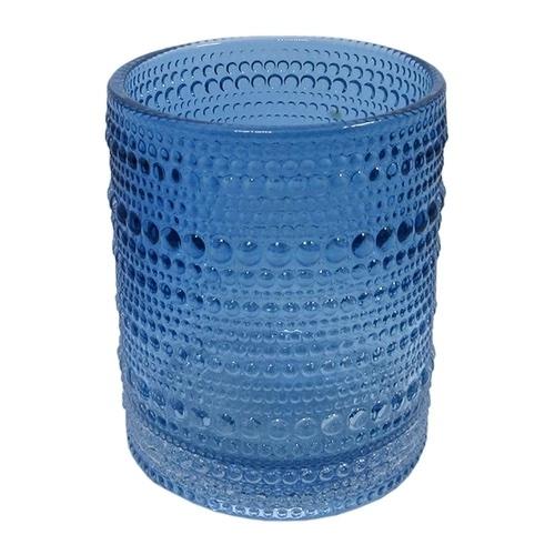 Castiçal de Vidro Azul Alto -  8,5 x 10,50 cm