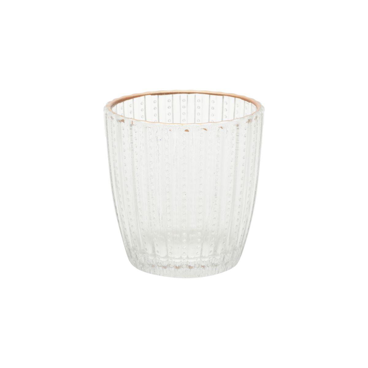 Castiçal de Vidro Colar Transparente