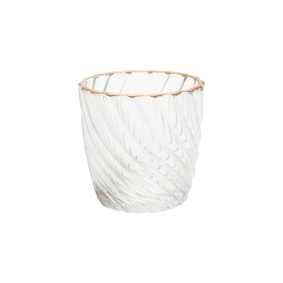 Castiçal de Vidro Colar Waves 7,2 cm x 7,2 cm x 7,5 cm