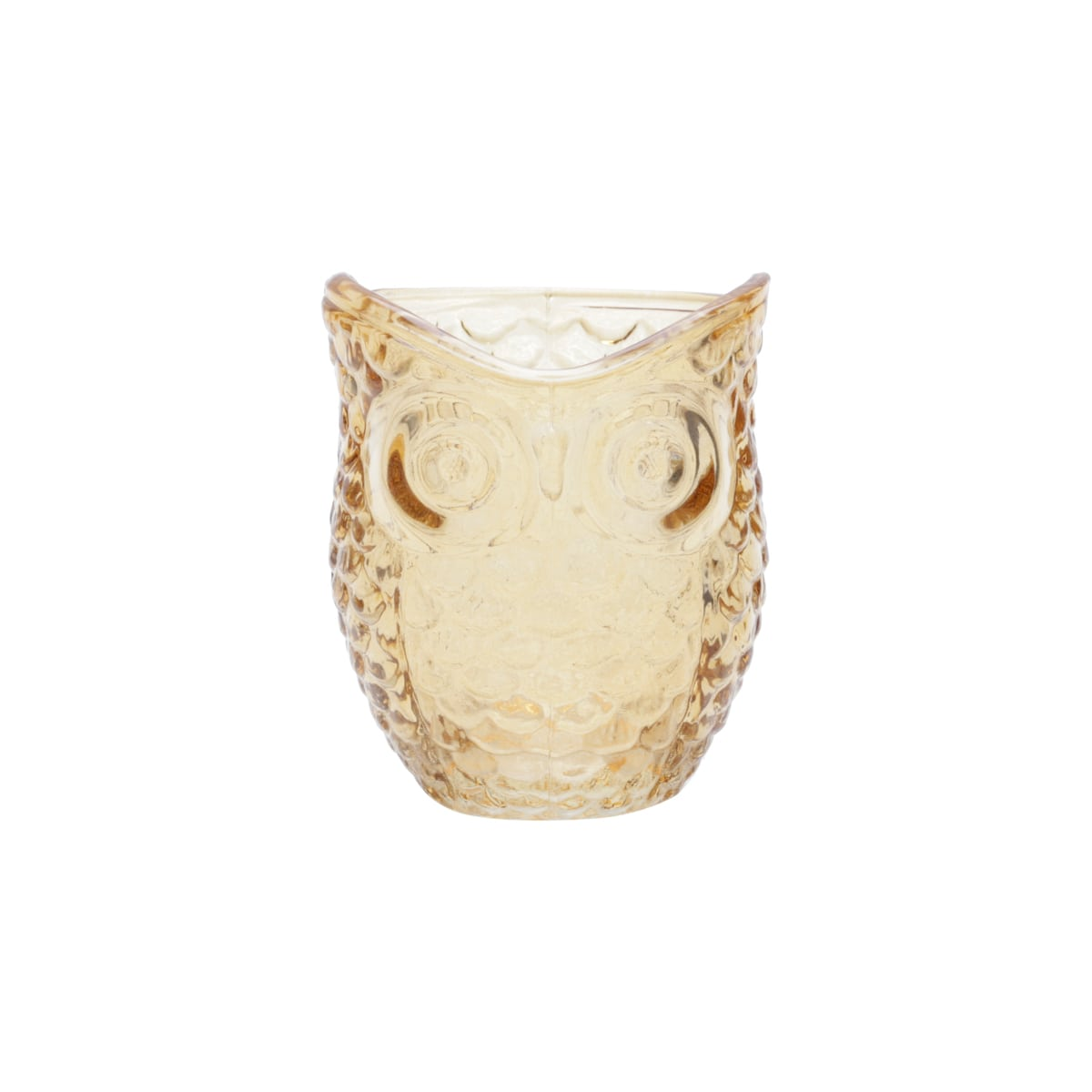 Castiçal de Vidro - Coruja Amarela