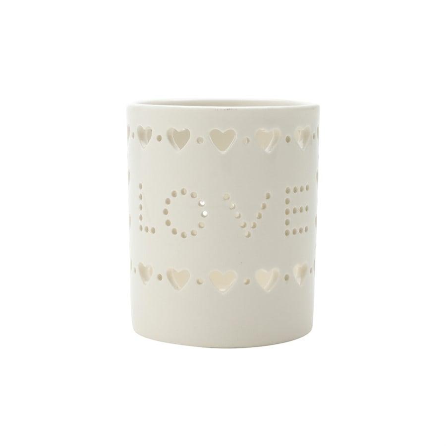 Castiçal em Porcelana Love