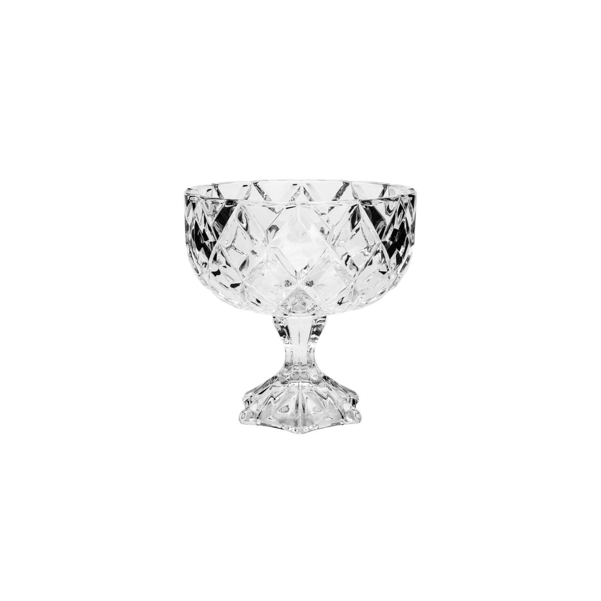 Centro de Mesa Com Pé de Cristal de Chumbo Deli 18 x 18 cm