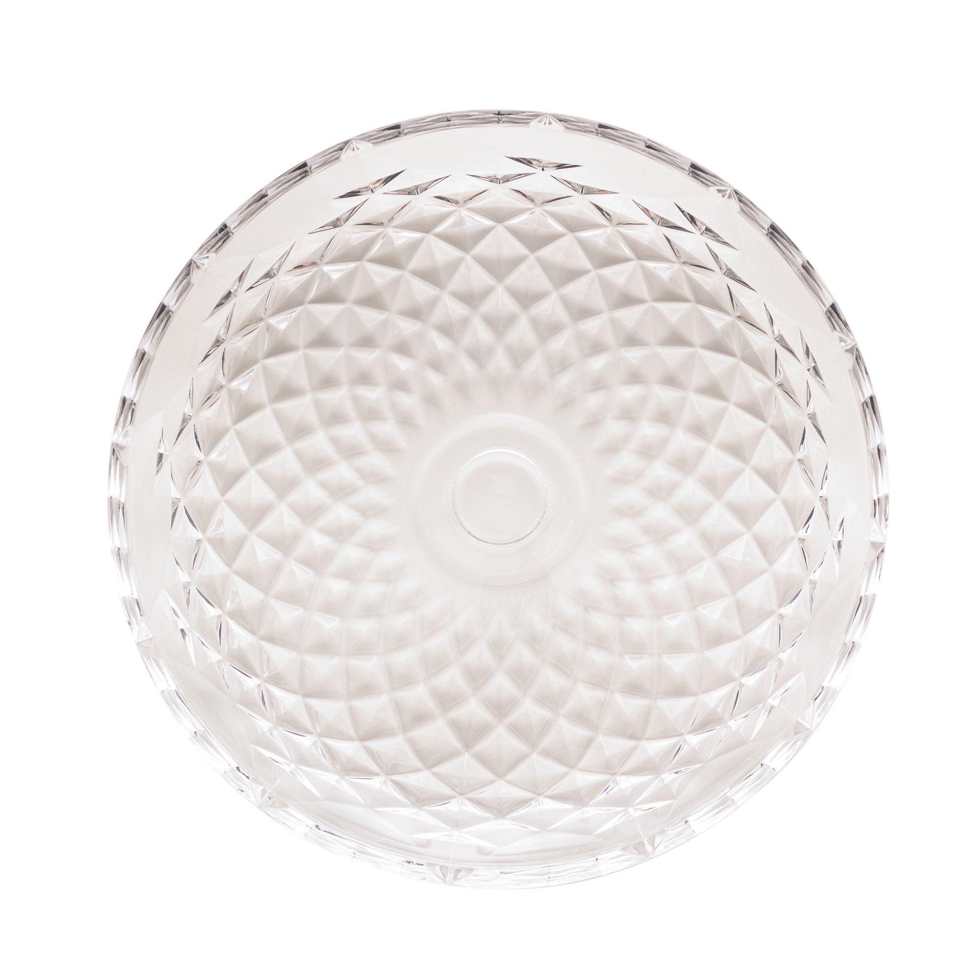 Centro de mesa de cristal Diamante  40 x 4,5cm