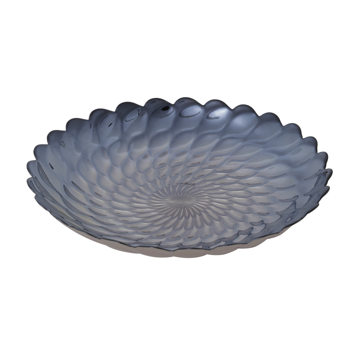 Centro de Mesa Decorativo de Vidro Belgravia Iris Luster 40 x 7 cm