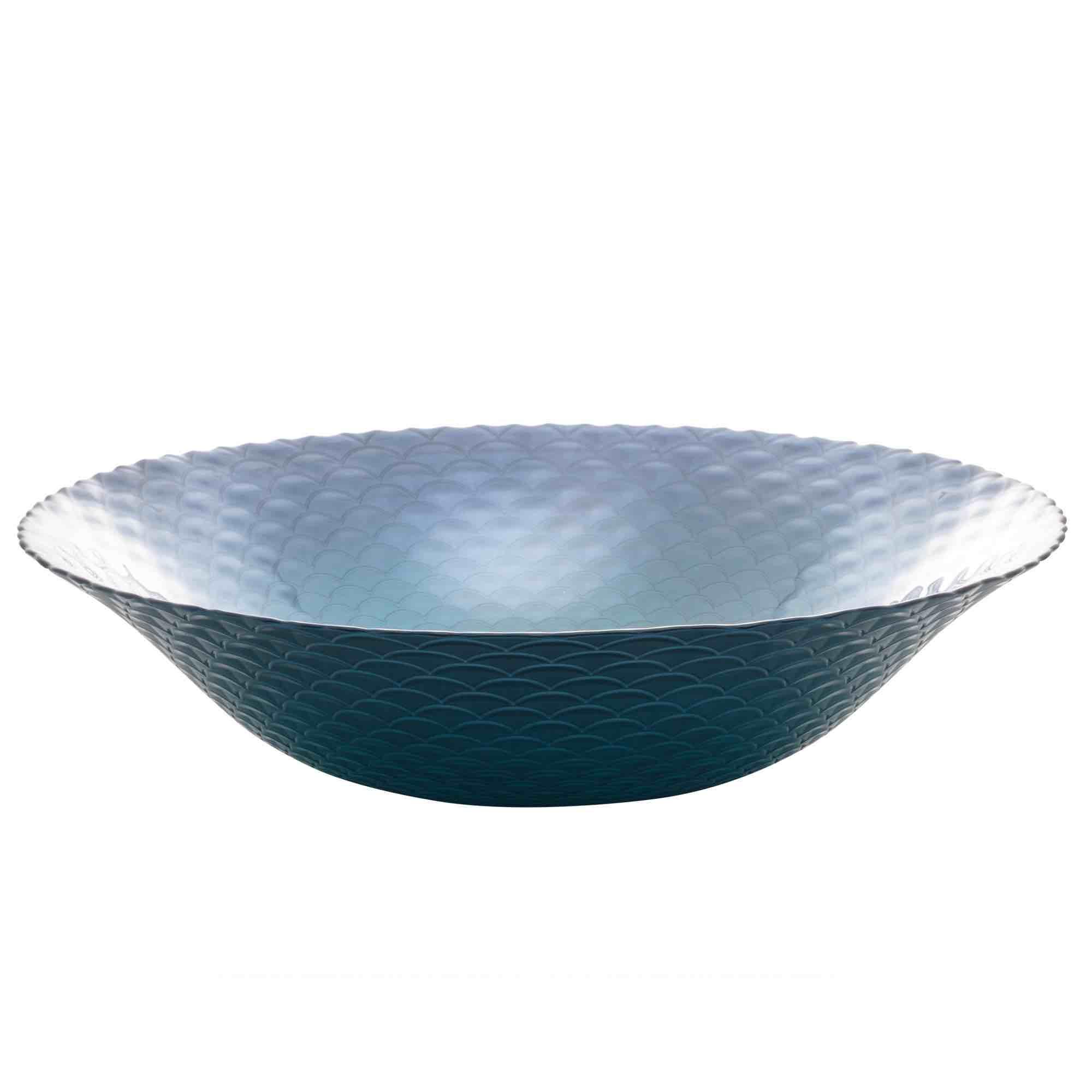 Centro de Mesa Decorativo de Vidro Shield 40 x 9,5 cm