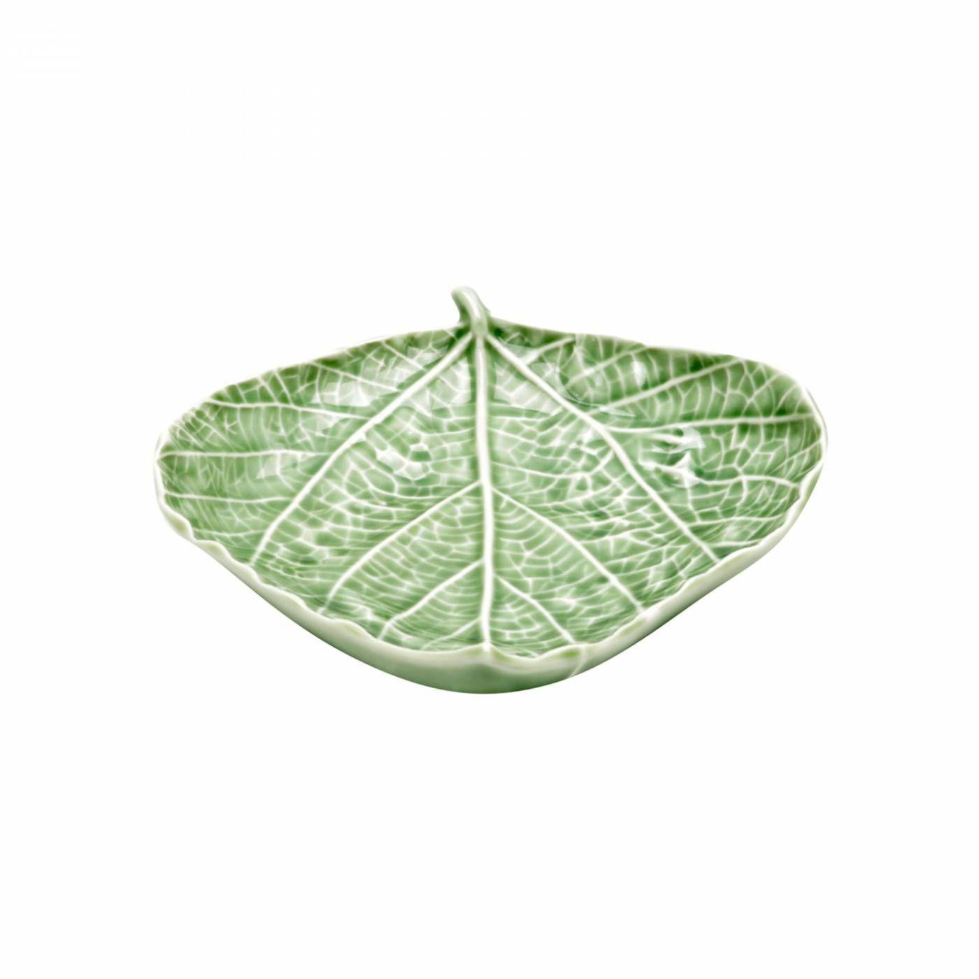 Centro De Mesa Em Cerâmica Verde Birch Leaf Urban 15x15x3,5cm