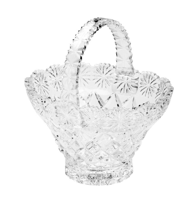Cesta de Cristal de Chumbo Diamond Star 17 x 13,5 x 18,5 cm