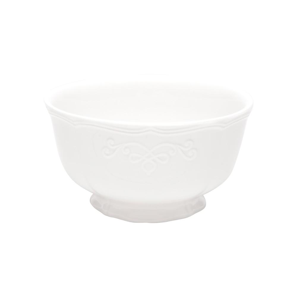 Cj 6 Bowls De Porcelana Super White Genebra 10 x 5,5cm