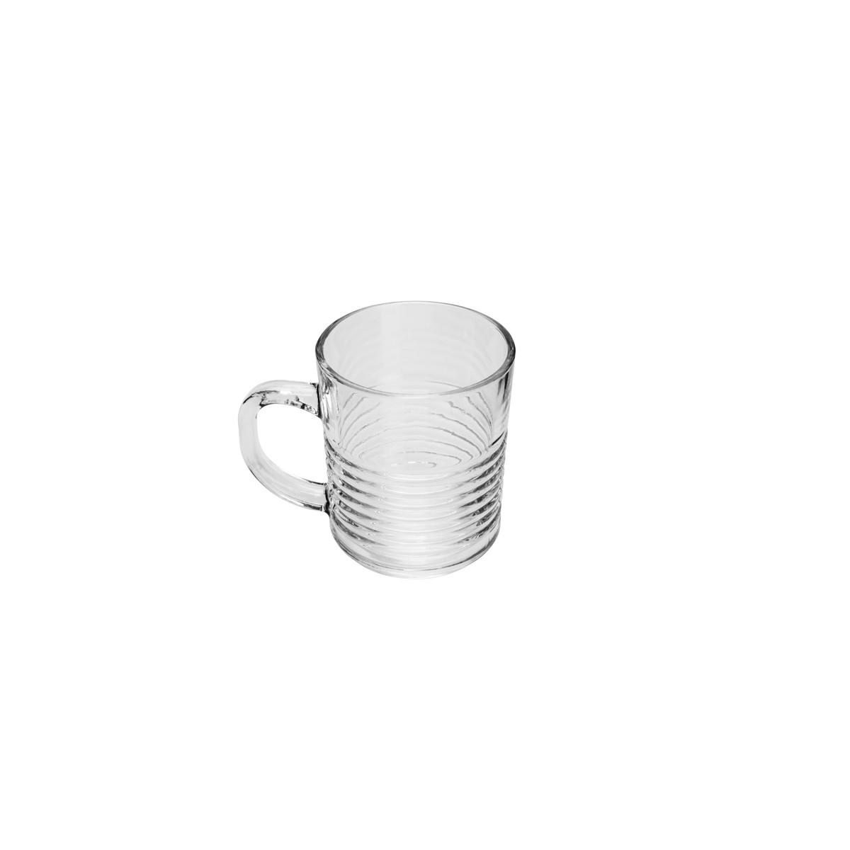 Cj 6 Canecas de Vidro Sodo-Calcico Colmeia 330 ml