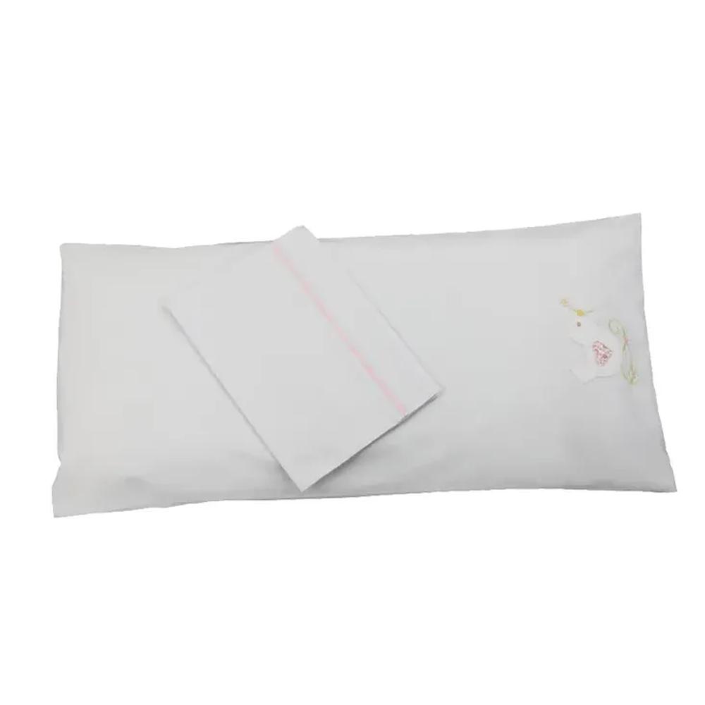 Colchonete de Carrinho Enxoval Menina 3 Peças 100% algodão Passarinho
