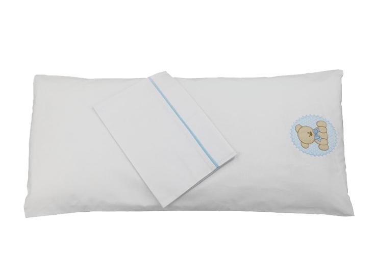 Colchonete de Carrinho Enxoval Menino 3 Peças 100% algodão - Urso Azul