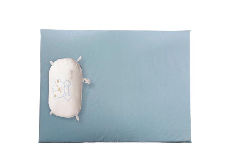 Colchonete para Berço Portátil Azul - Forra Baby + Naninha