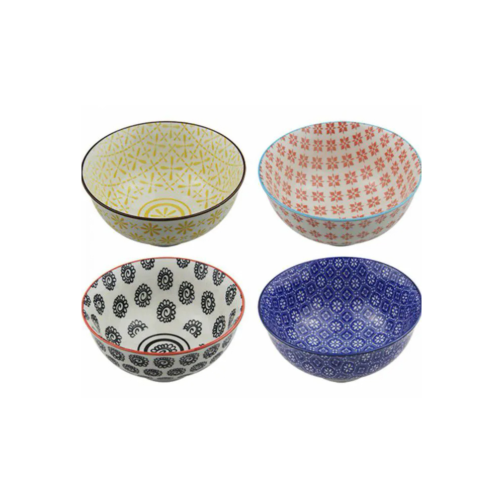 Conjunto 4 Bowl Tigela Cumbuca Cereais Molhos Barcelona, Berlim, Londres E Paris