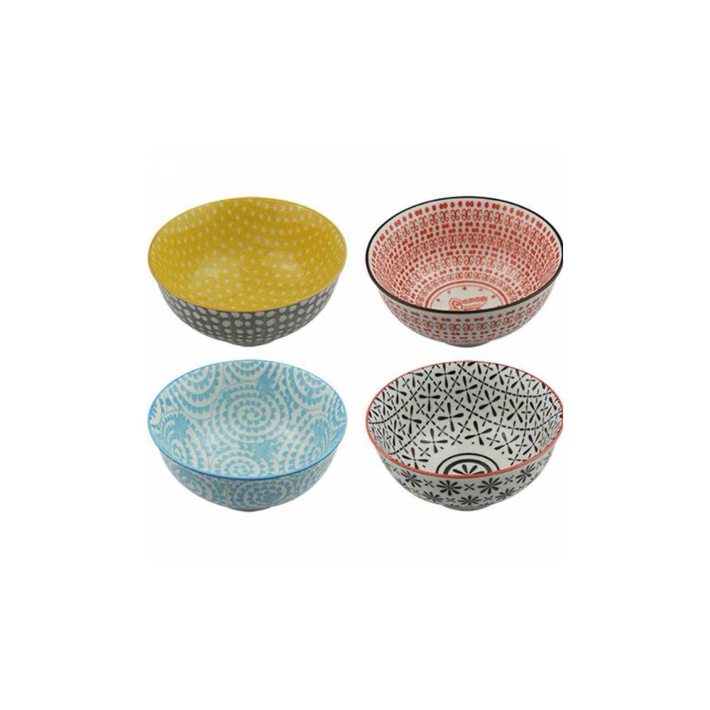 Conjunto 4 Bowl Tigela Cumbuca Cereais Molhos Boston, Milão, Roma E Zurich