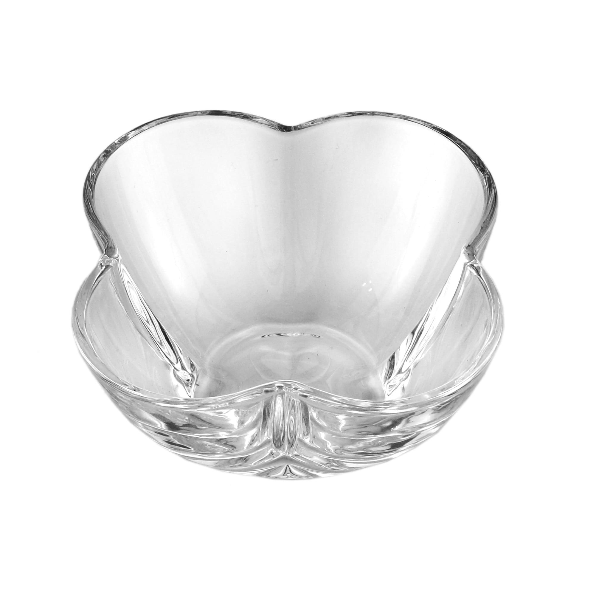 Conjunto 4 Bowls de Cristal de chumbo Clover  9 x 5 cm
