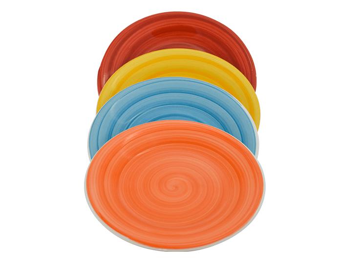 Conjunto 4 Pratos Sobremesa Coloridos