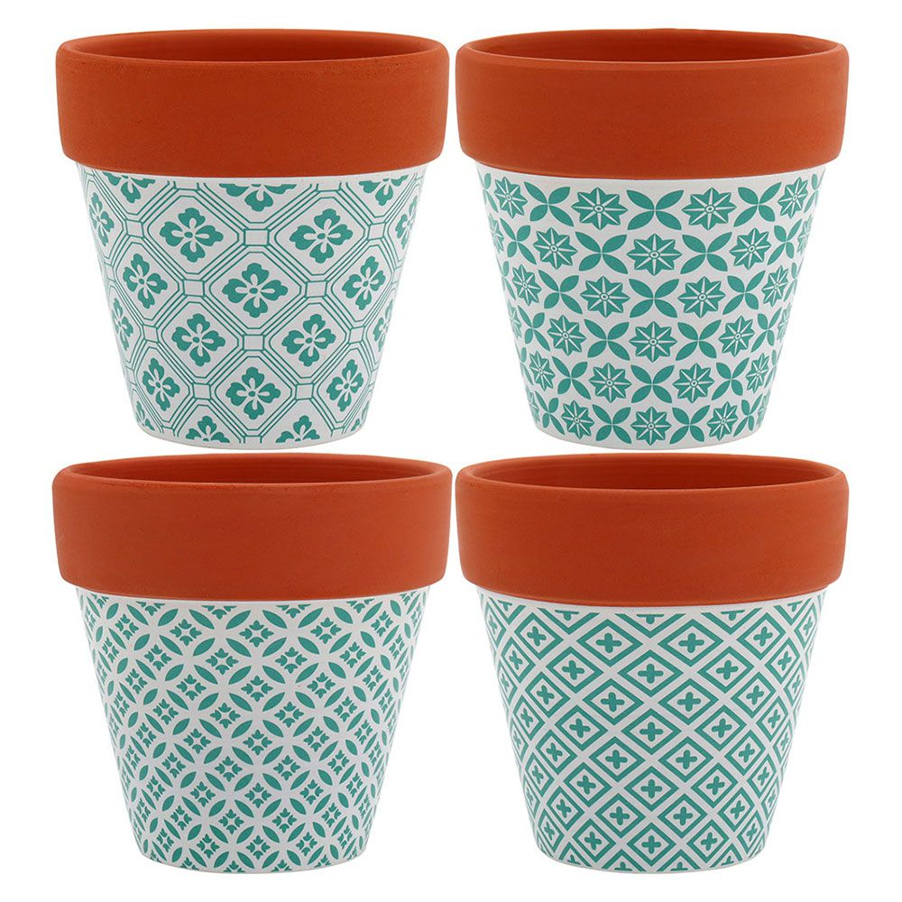 Conjunto de 4 Cachepots em Cerâmica