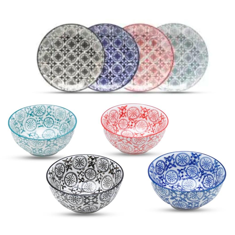 Conjunto de Sobremesa 4 Bowls + 4 Pratos em Porcelana Royal