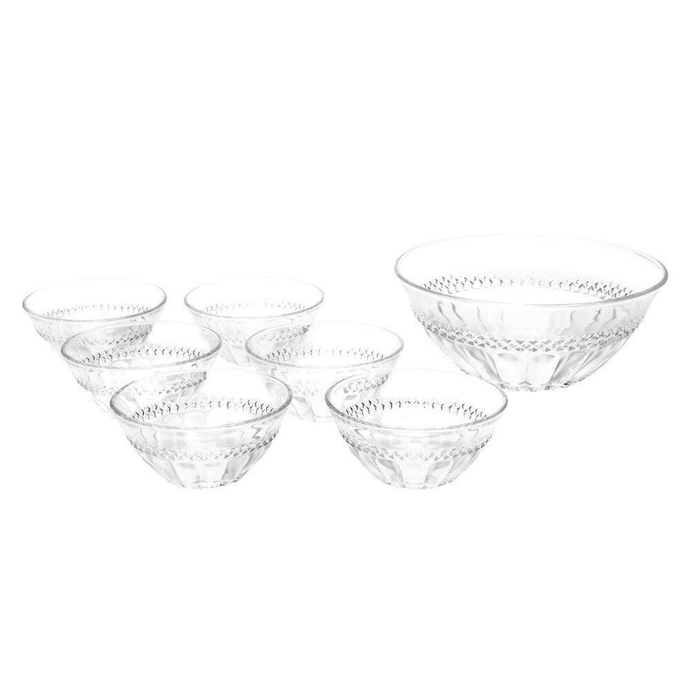 Conjunto de Sobremesa de Cristal de Chumbo Diamante 7 Peças