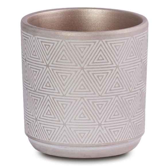 Conjunto de 2 Vasos Decorativos em Cerâmica Rose Gold Para Plantas, Flores E Suculenta