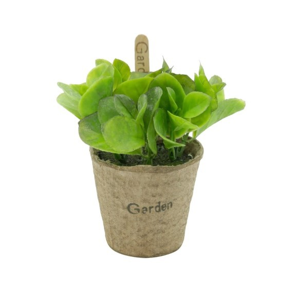Conjunto de 3 Vasos Decorativos com Suculentas Verdes Artificiais