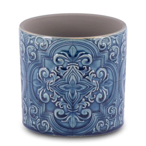 Conjunto de 2 vasos decorativos para flores em cerâmica