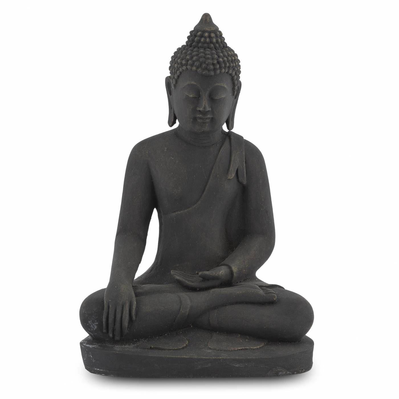 Escultura Buda Zen Hindu Namastê Tailandês Tibetano Sidarta em Resina