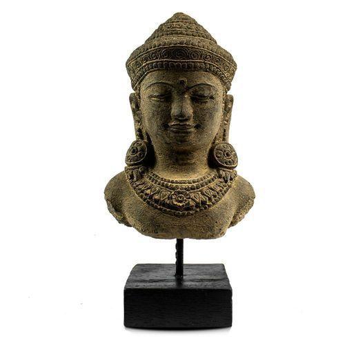 Escultura de Buda Hindu Namastê Tibetano Sidarta em Cimento