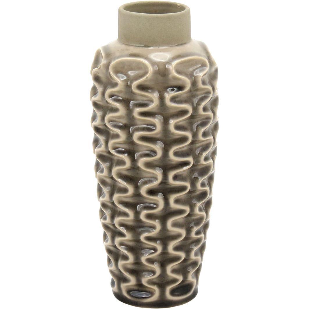 Garrafa Decorativa Prada em Cerâmica Bege com Acabamento Sofisticado