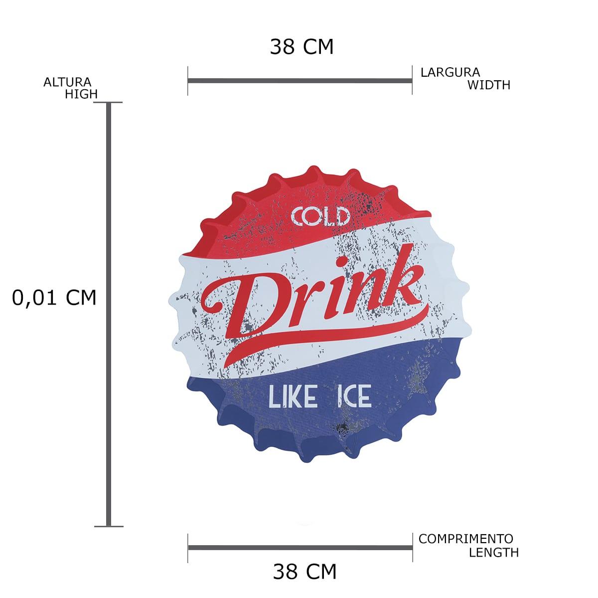 Jogo Americano com 4 Peças Soda Cold Drink Azul/vermelho