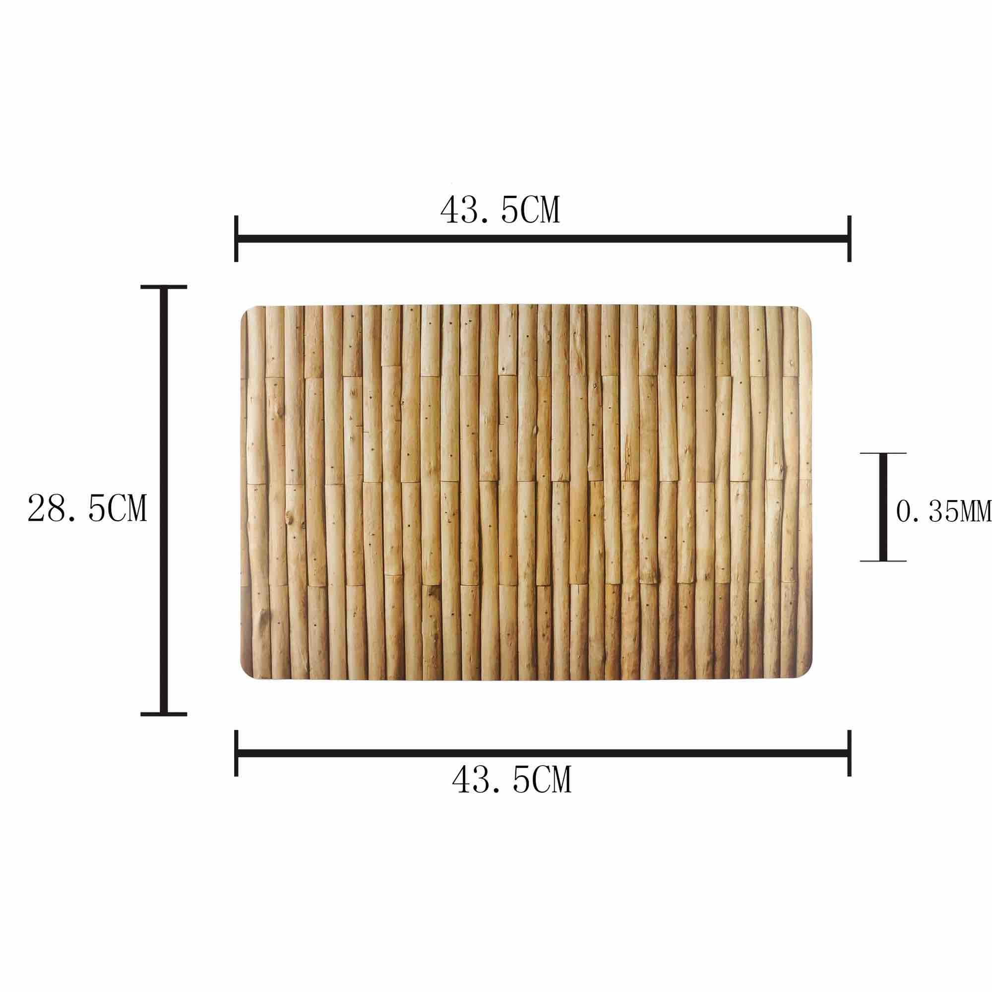 Jogo Americano de plástico Bambu com 4 Peças