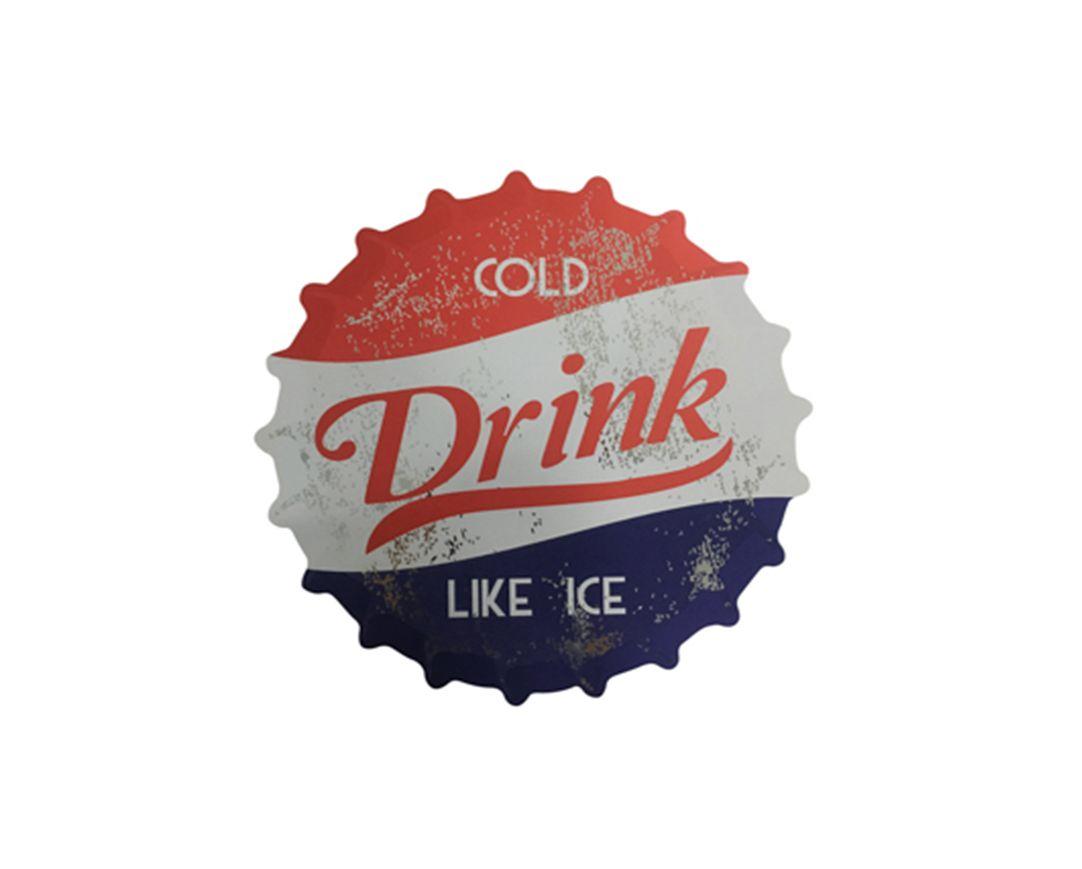 Jogo Americano Tampa De Garrafa Drink Cold Like Ice com 4 Peças