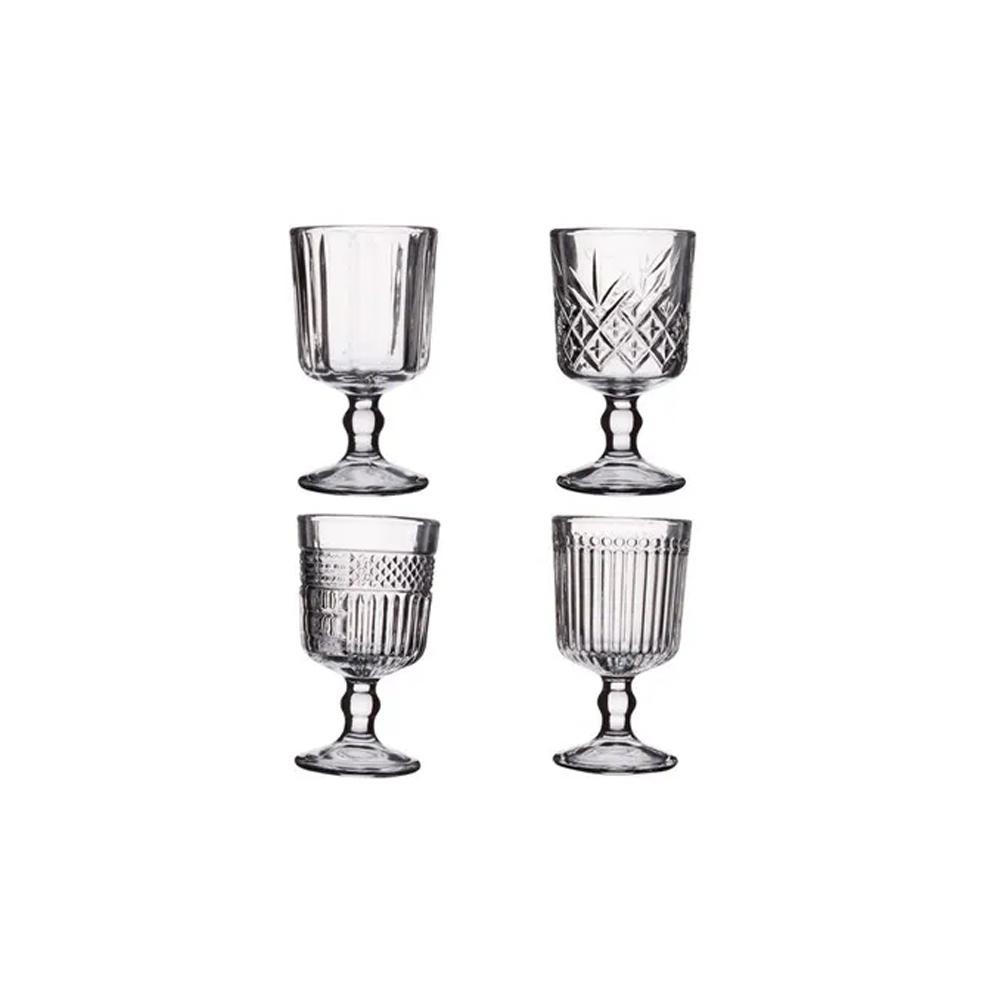 Jogo com 4 taças para licor de vidro sortidas 65ml