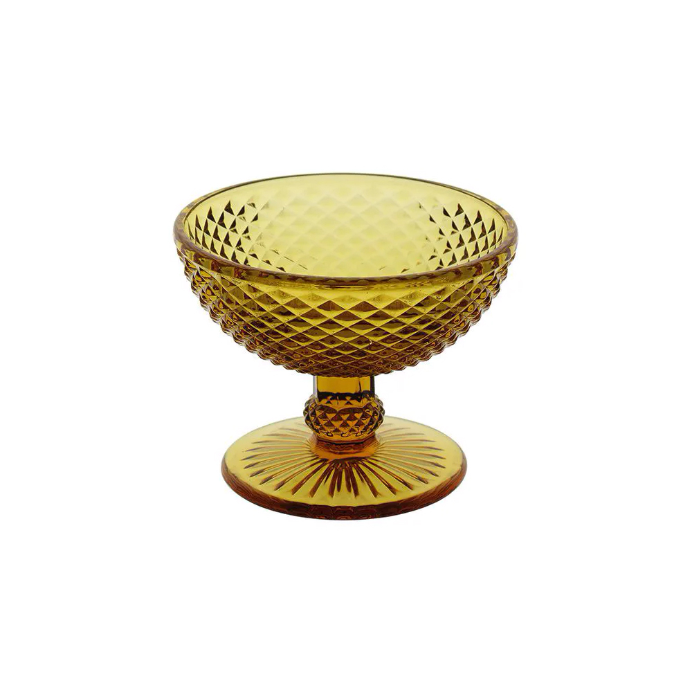 Jogo de 6 Taças de Vidro Âmbar Decoração Jantar