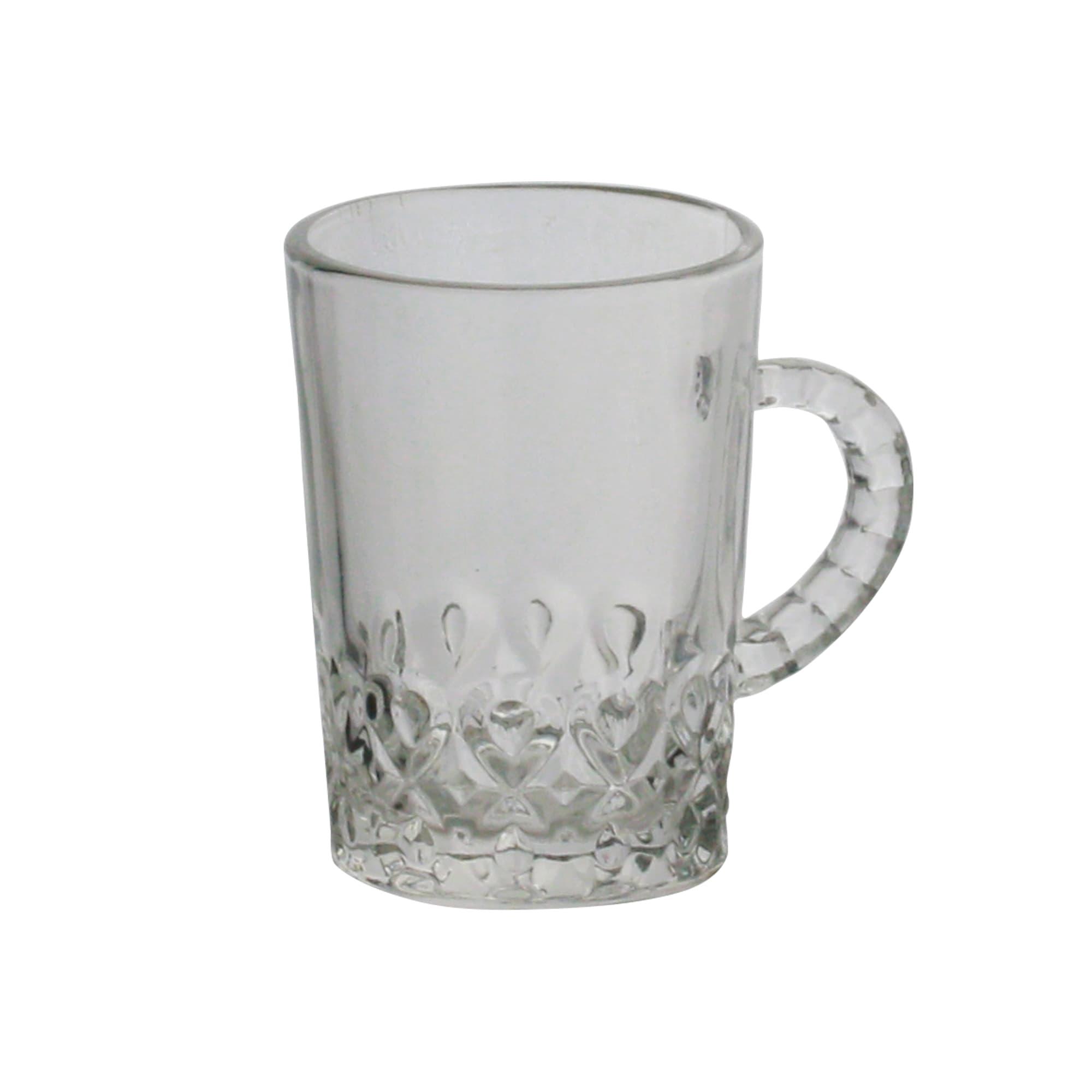 Jogo de canecas em vidro Gotas 115ml 6 peças