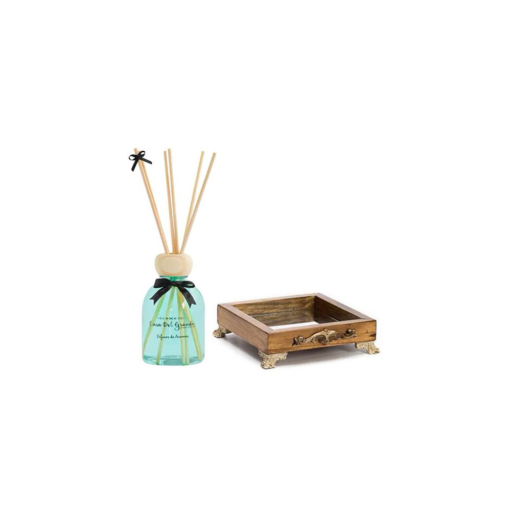 Kit Aromas Alecrim (Difusor de Aromas + Bandeja Espelhada)