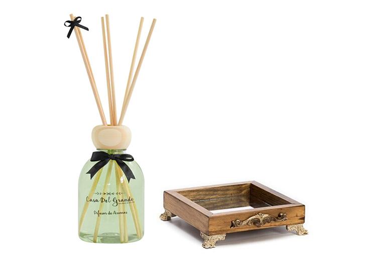 Kit Aromas Bamboo (Difusor de Aromas + Bandeja Espelhada)