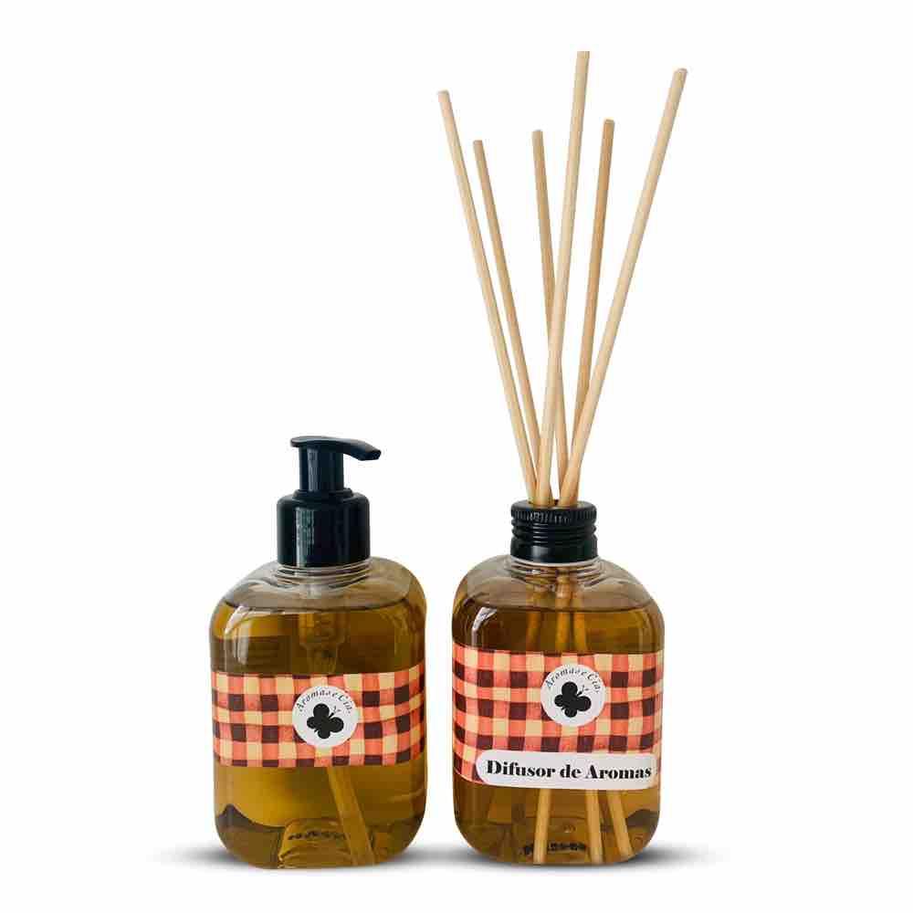 Kit Aromas Especiarias Canela  (Difusor de Aromas + Sabonete Liquido)