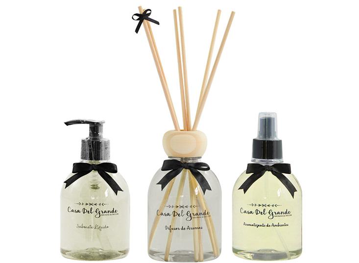 Kit Aromas Raízes (Difusor de Aromas + Aromatizante + Sabonete)