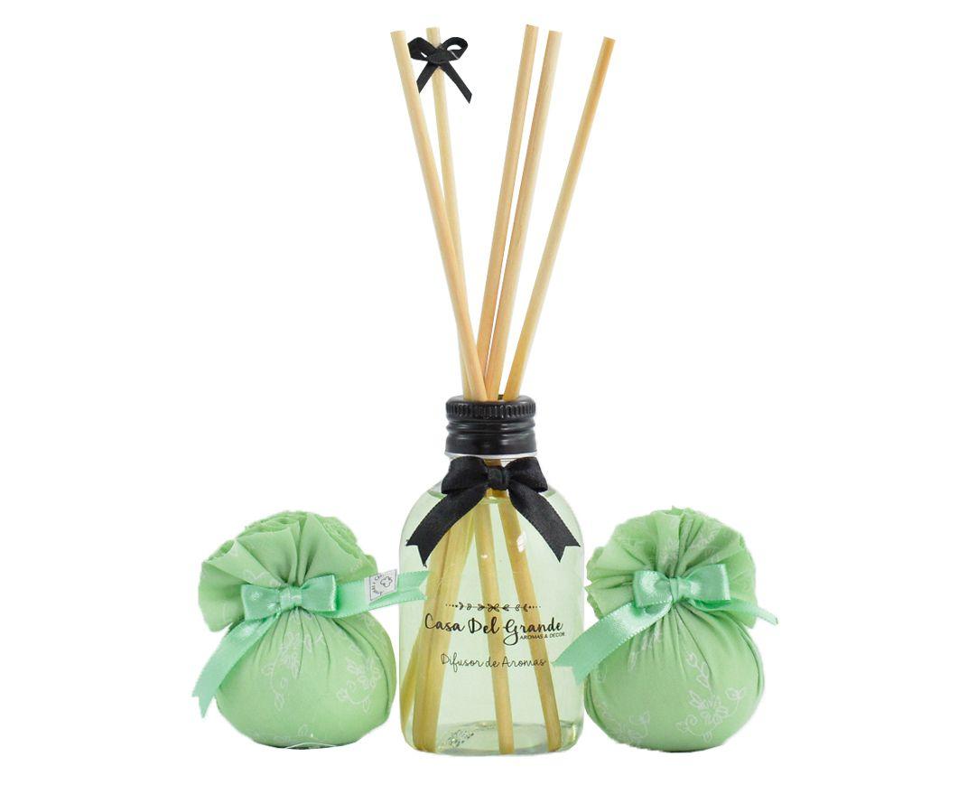 Kit Difusor Aromatizador + Sachê Perfumado - Casa Del Grande - Bamboo